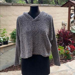 Cute cropped soft sweater hoodie